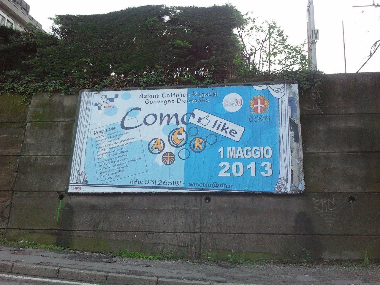 L'ACR sui muri di Como