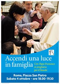 Preghiera 4 ottobre 2014 con papa Francesco