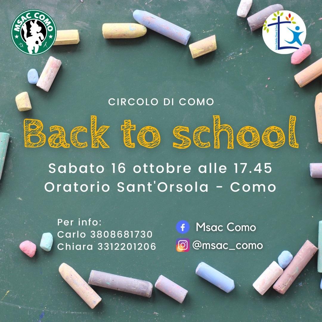 Back to school: l'incontro MSAC del 16 ottobre